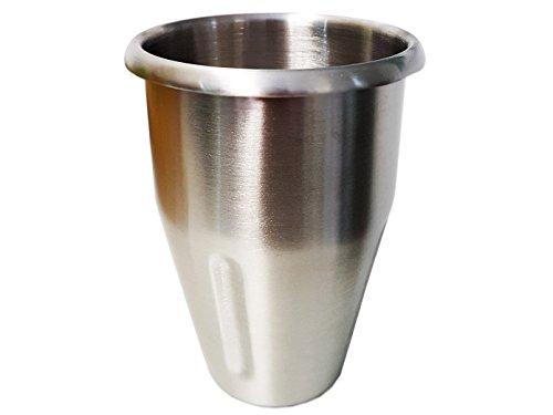 Profi Mixbecher aus Edelstahl, 900 ml Inhalt, für Mixer MS-10, GGG 13376 - Barmixer Blender