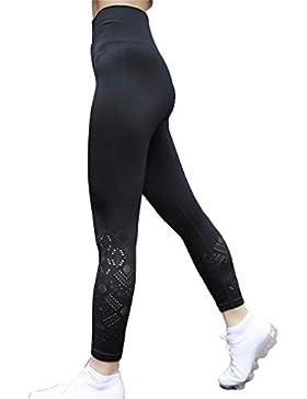 Mujer Moda Pantalones Deportivos, Cintura Elástico Pantalón Transpirables Casual Aptitud Slim Skinny Leggings...
