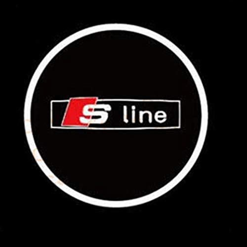 Aokairuisi Kit Luci Cortesia Logo sottoporta S Line LED Proiettore 5W 12V Audi S- Line