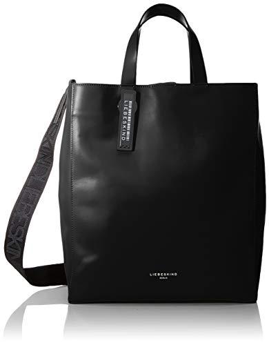 Liebeskind Berlin Damen Paper Bag - Tote Medium Henkeltasche, Schwarz (Black), 15x34x29 cm -