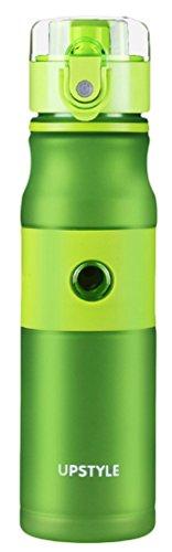 EOZY Bouteille d'Eau Sport 620ml Plastique Portable Bottle Water Sport Voyage Randonnée Camping Vert