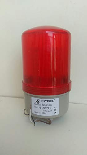 Industrial Buzzer Siren AC 110 & 220V and DC 12 & 24V Red LED Light Tower Lamp
