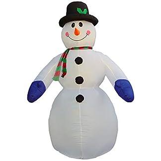 Muñeco de nieve LED, 300 cm, exterior