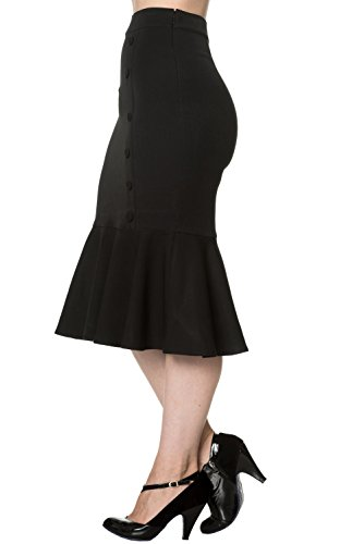 Dancing Days by Banned Godet Rock HISTORY REPEATS SKIRT 2101 Black