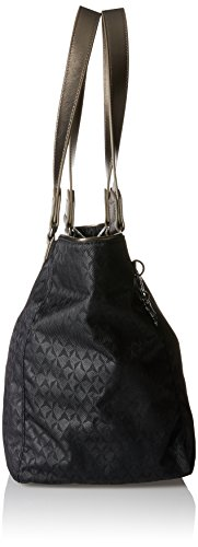 Kipling Damen Lots of Bag Henkeltasche, 52 x 28 x 18 cm Schwarz (Black Ink EMB)