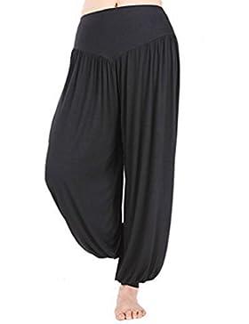 BienBien Pantalones de Yoga Elástico Pantalones Danza del Vientre Harem Hip Hop Pantalón Polainas Largos Holgados...