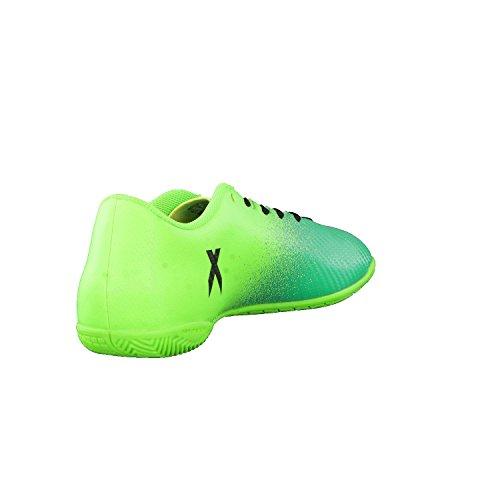 adidas Jungen X 16.4 in Fußballschuhe SGREEN/CBLACK/CORGRN