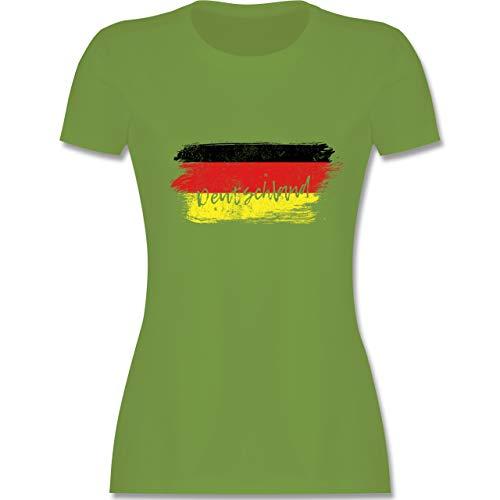 Handball WM 2019 - Deutschland Vintage - M - Hellgrün - L191 - Damen Tshirt und Frauen T-Shirt