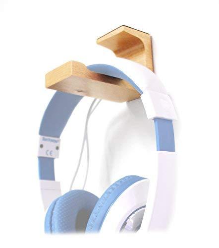 Echt Buchenholz Headset-Stand Desk Mount für Corsair nichtig Pro RGB Wireless Gaming Headset Dolby 7.1Surround Sound Kopfhörer für PC-Unter Schreibtisch Kopfhörer Halter Aufhänger (Dolby Surround Wireless Sound)