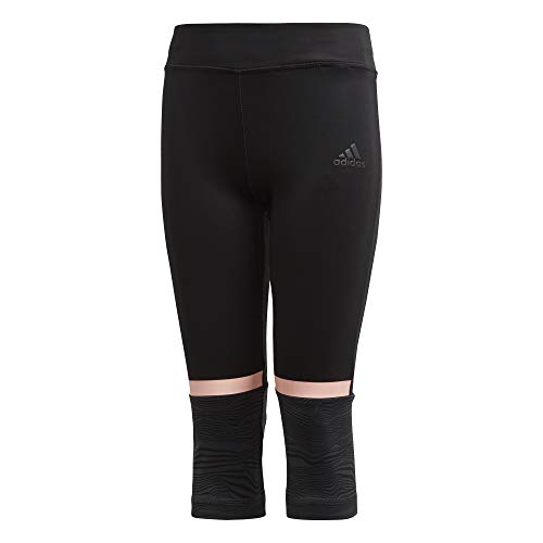 adidas Mädchen Training 3/4 Tight, Black/Carbon/Clear Orange, 140 -