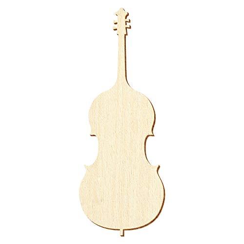 Holz Kontrabass - Deko Zuschnitte Größenauswahl, Pack mit:100 Stück, Größe:41cm