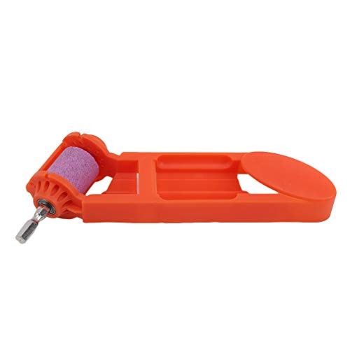 SUNSKYOO Bohrerschärfer Stahl Home Tragbare Bohrmaschine Schleifscheibe Handbetriebenes praktisches Werkzeug, Orange