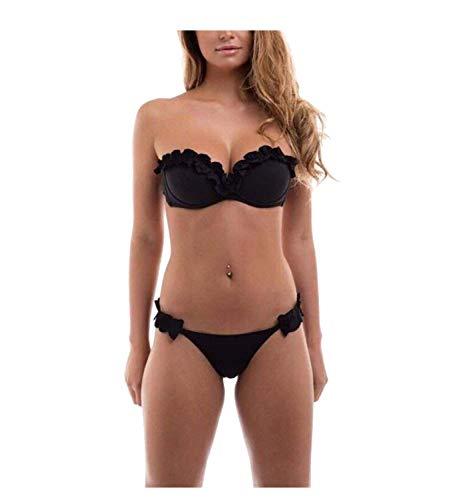 2018 Womens Sexy Tinta Unita Bikini Brasiliano Set-Triangolo Perizoma Soft Imbottita Perdita clivaggio Bikini Set 2 Pezzi Costume...