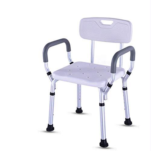 WANNA.ME Premium Badewanne Duschlift Stuhl, tragbarer Badesitz, verstellbare Duschbank, weißer Badewannenlift Stuhl mit Armlehnen -