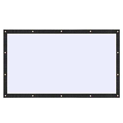 feiledi Trade Faltbare Projektor-Leinwand 16:9 für Vorder- und Rückprojektion ohne Falten, für Zuhause und draußen, für Kino, Xbox Spiele