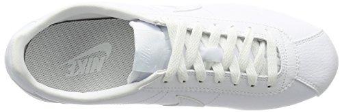 Nike Herren Classic Cortez Leather Turnschuhe Elfenbein (White/white)