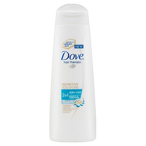 Dove Hair Therapy Solutions nutritifs Daily Care 2in1 Shampoo & Conditioner (250ml) - Paquet de 6