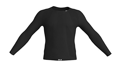 ALE - Seamless Long Sleeve Base Layer, Farbe Carbon, XL -
