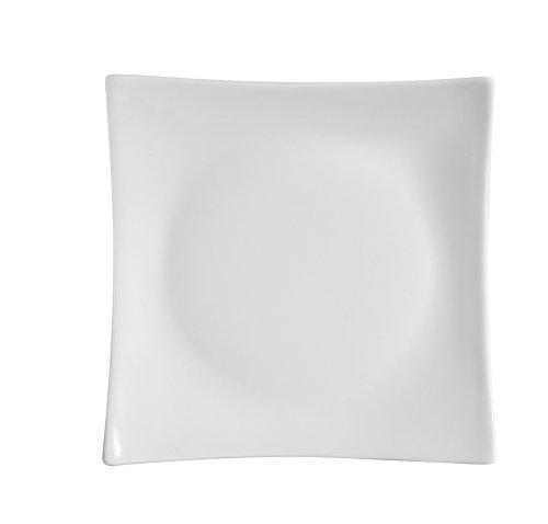CAC China Sushia Porzellan-Teller, quadratisch, Weiß 7-1/2-Inch Super white; bright white - Quadratische China Teller, Weiße