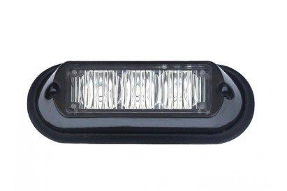 Maypole Mp4112 12/24 V LED encastré Strobe lampe Ambre, 3 x 3 W, 12/24 V