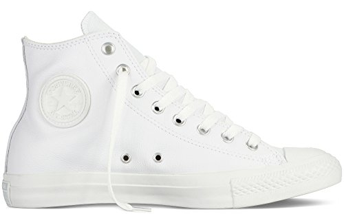 Converse Casual Schuhe Männer (Converse Chuck Taylor All Star Adulte Mono Leather Hi, Unisex-Erwachsene Hohe Sneakers, Weiß (blanc), 37 EU)