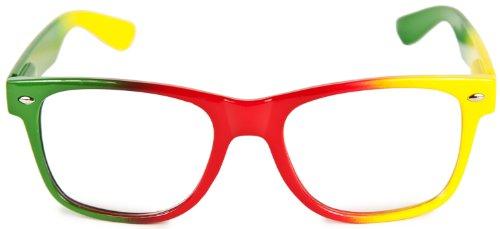 Nerd Brille Marley Nerdbrille Wayfarer Brille Geek Panto Nerd Sonnenbrille Partybrille