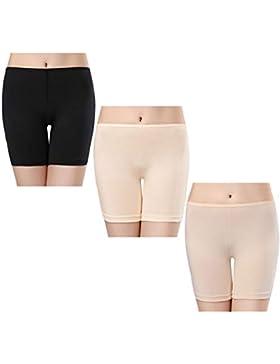 wirarpa Shorts Leggings Pantalones Cortos Algodon Mujer Verano 3 Pack Cintura Alta Bragas Seguridad Boxer Mujer...