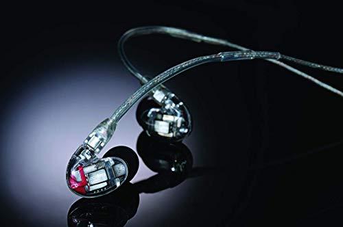 Shure SE846-CL Professionellen Ohrhörer mit Sound-Isolating-Design, vier High-Definition-MicroDrivern und transparentem Kabel mit 3,5-mm-Klinken für definierte Höhen und echte Subwoofer-Leistung - 4