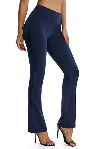 FITTOO Pantaloni Yoga Donna Yoga Pants Larghi Eleganti Sportivo, Blu, L
