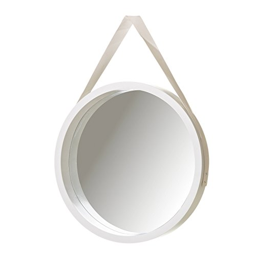 Espejo de Pared nórdico Blanco de PU para salón de 40 cm...