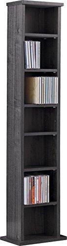 Maine DVD & CD 6Regal Media Storage Tower schwarz Schwarz Media Regal