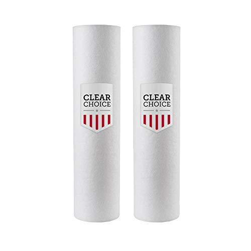 Clear Choice Sediment-Filterkartusche für Everpure DEV910908, Cuno CFS110 AP1003, Pentair DEV910908, Pentek 155014-43, NuCalgon 4712-87, 2K -