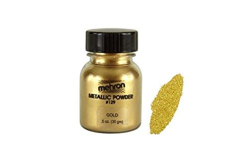 er, Metallisch Farbpulver, Gesicht und Körper malen, besondere FX Make Up 30M L gold ()