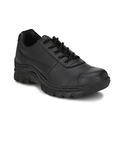Buy Peter John Leather's pj_093_black_9 Industrial Steel Toe Safety Shoes for Men, Size 9 (Black) online in India at discounted price