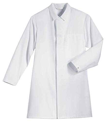 Uvex Whitewear 473 Herren-Laborkittel - Arztkittel aus 35% Baumwolle - Gr L