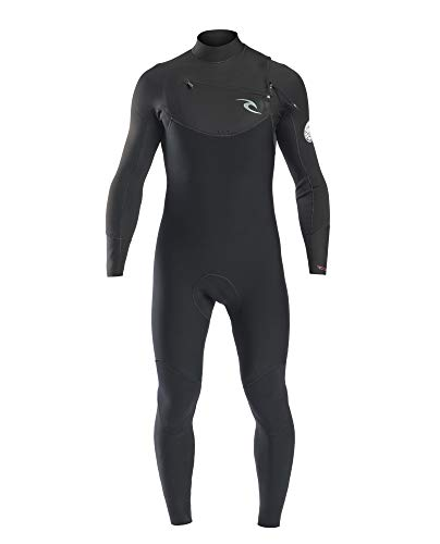 RIP CURL WSM7CM Dawn Patrol Men,4/3 mm Steamer Chest Zip, Neoprenanzug, Thermolining,Black,MT/183cm