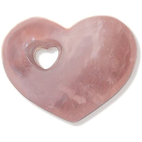 Cuore quarzo-rosa pietra preziosa bella forma bulbosa - Quarzo Rosa Cuore