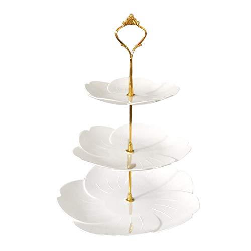 3 Tier Cake Stand Obstteller Multi-Layer Cake Stand für Hochzeit Engagement Geburtstagsfeier für Cupcakes Obst Dessert oder Tee Cake Pop Stand und Buffet-Server 3-tier-dessert-server