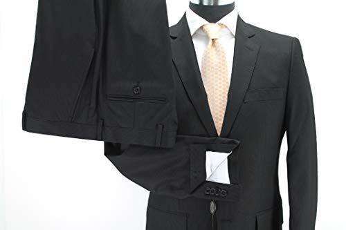 Man Anzug Schneiderei Gabrielli 2 Knöpfe Wolle Art. Calcio millerighe Schwartz Made in Italy,50 - - Knopf-manschette-wolle Blazer