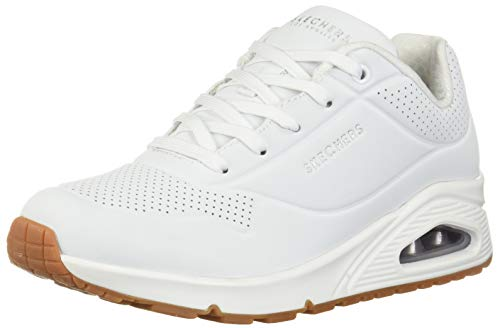 Skechers Damen UNO-Stand On Air Sneaker, Weiß (White Wht), 39 EU (Schuhe Skechers Damen White)