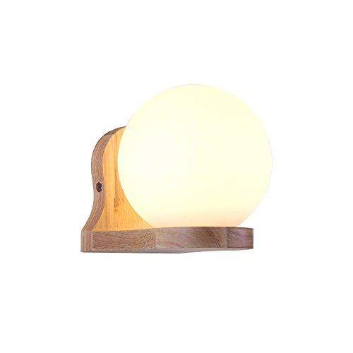 KMYX Moderna Sola Cabeza Madera Pared luz Redonda