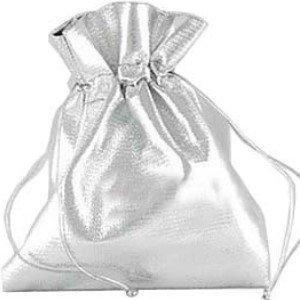 25Stück Organza Geschenk-Taschen/Schmuck Beutel-5x 7cm-silber Satin (Silber Organza Beutel)