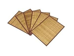 Lot de 6 sets de table en bambou 30 x 45cm