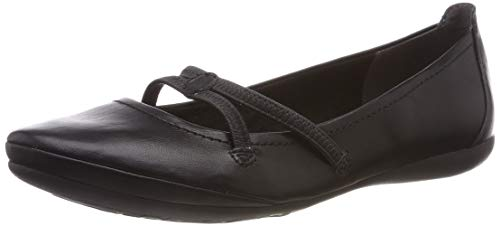 Tamaris Damen 1-1-22110-22 Geschlossene Ballerinas, Schwarz (Black 1), 41 EU