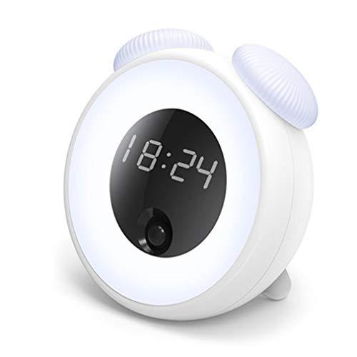 Road&Cool Wecker Intelligent Induktion LED Lichtsteuerung Erleuchtung Nachtlicht Snooze Zeit Alarm (12 × 7 × 13 cm)