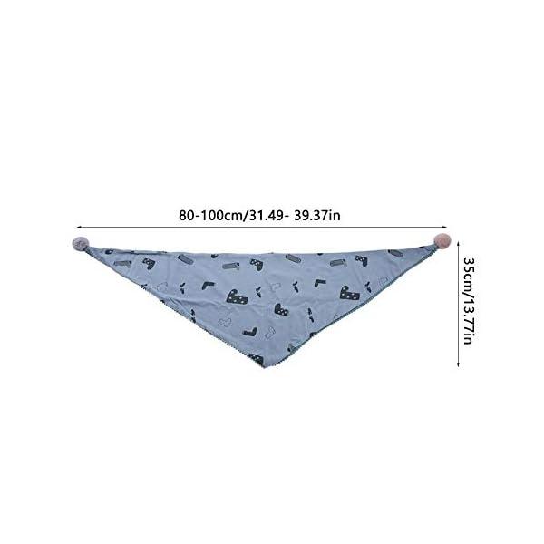 Bufanda de algodón para niños, cómoda bufanda de cuello de triángulo para niños cómoda a prueba de viento transpirable… 2