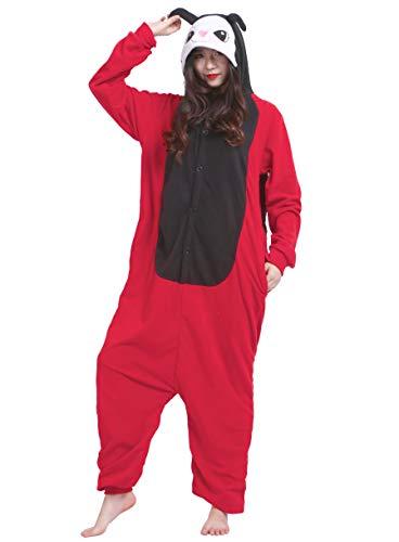 Jumpsuit Onesie Tier Karton Kigurumi Fasching Halloween Kostüm Lounge Sleepsuit Cosplay Overall Pyjama Schlafanzug Erwachsene Unisex Marienkäfer for Höhe 140-187CM