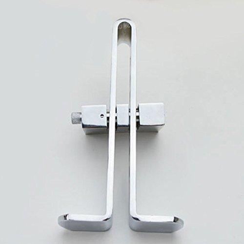 Sedeta® C03 Verrou de sécurité de la pédale de frein L'embrayage automatique d'acier inoxydable de voiture bloquent l'anti-vol argent