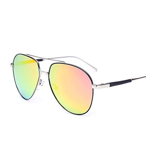 Yiph-Sunglass Sonnenbrillen Mode Strand, der Ferien-Fischen-Partei for Frauen-Metallrahmen-UVschutz-Sonnenbrille fährt (Farbe : Silver Frame Purple red)