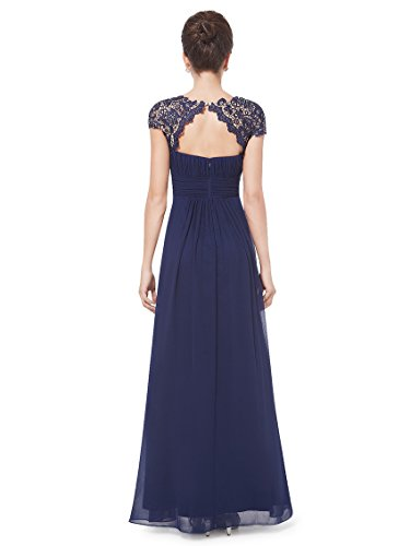 Ever-Pretty - Robe - Taille empire - Femme Bleu